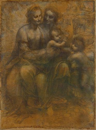 レオナルド・ダ・ヴィンチ『聖アンナと聖母子、洗礼者ヨハネ』ナショナル・ギャラリー.jpg